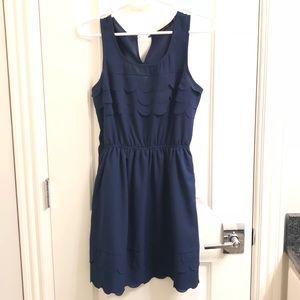 Doe and Rae Scalloped Dress